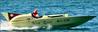 D Hydroplane 1950s replica speedboat