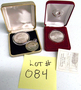 084 (5) Commemorative Medals NO RESERVE/ABSOLUTE